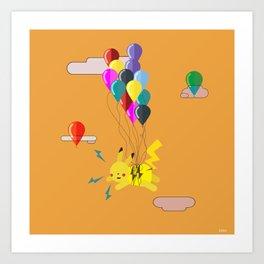 Electric Balloons  Art Print