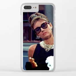 Audrey Hepburn #3 @ Breakfast at Tiffany's Clear iPhone Case