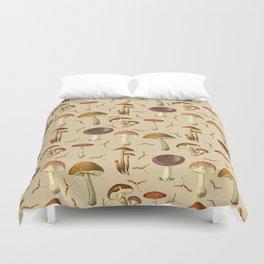 Wild Forest Mushroom Pattern Duvet Cover