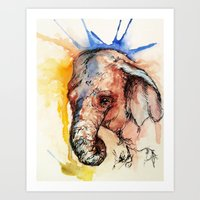 africa Art Prints featuring Africa by Abigail Leigh