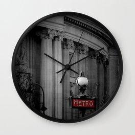 Paris Metro Wall Clock