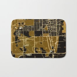 Fort Lauderdale old map year 1949, united states old maps Bath Mat