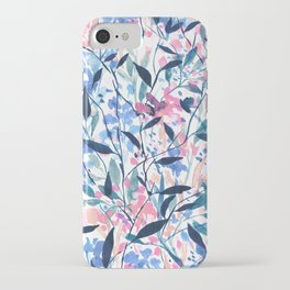 Wandering Wildflowers Blue iPhone Case