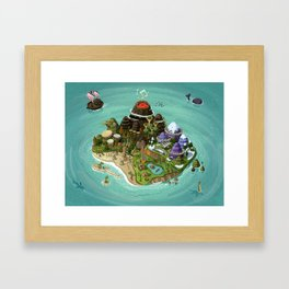 Rock Island Framed Art Print