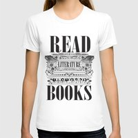 literature T-shirts featuring Literature Poster by Ryan Huddle House of H