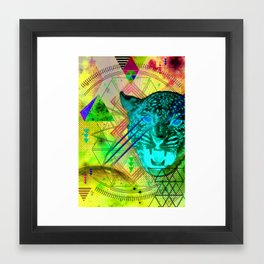Intergalactic Leopard Framed Art Print