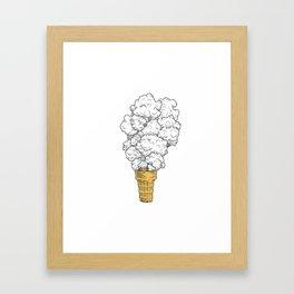 Volcano ice cream Framed Art Print