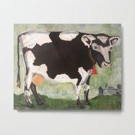 Country Cow at Pasture Metal Print
