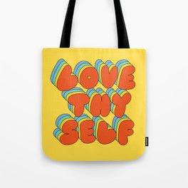 Love Thy Self Retro Graphic Tote Bag