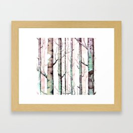 Birch Tree Forest Framed Art Print