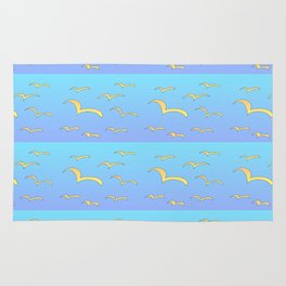Birds in the blue sky 2-bird,sky,hope,feathers,jaws,eggs,aves,wing Rug