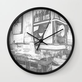 Times Square II (digital sketch) Wall Clock