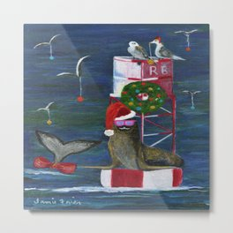 Christmas Seal and Friends Metal Print