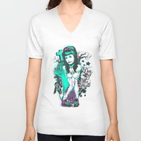 day of the dead V-neck T-shirts featuring Day of the dead by Tshirt-Factory