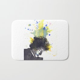 Portrait of Bob Dylan in Color Splash Bath Mat