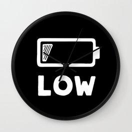 Low battery #2 Wall Clock