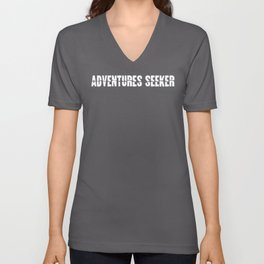 Adventure Seeker graphic Adventure design Unisex V-Neck