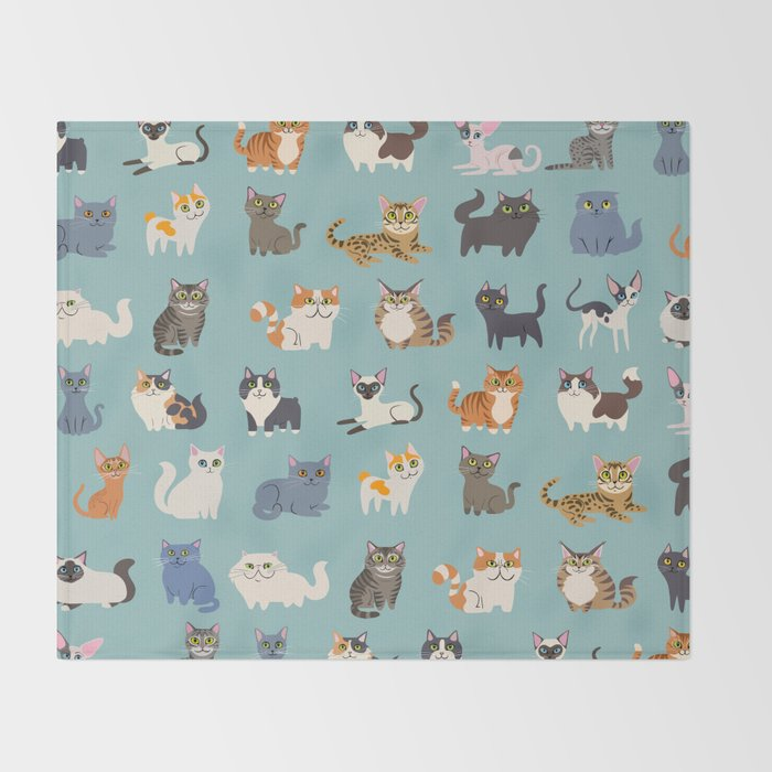 Cats! Throw Blanket