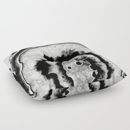 Gray Black White Agate #1 #gem #decor #art #society6 Floor Pillow