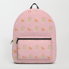 The Forest Girl and Deer pattern, pink Backpack