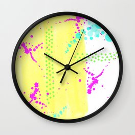 Bubble Splash Wall Clock