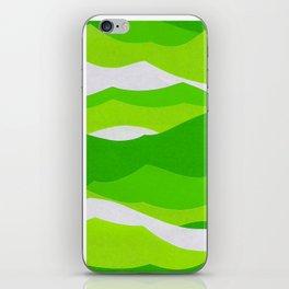 Waves - Lime Green iPhone Skin