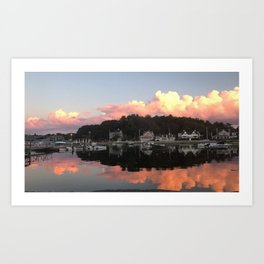 Sunset Over Cohasset Harbor Art Print