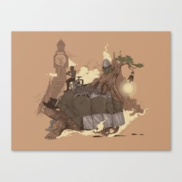 Mythical Rhapsody: King of the Earth Canvas Print