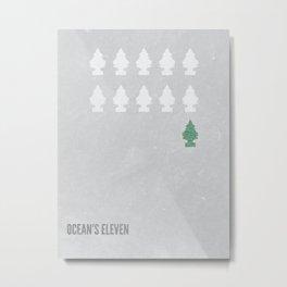 Ocean's Eleven Minimalist Poster.  Metal Print