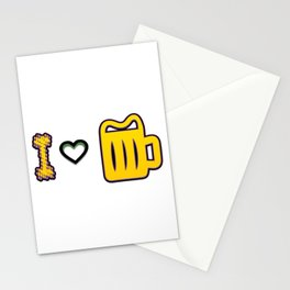 love - I love beer Stationery Cards