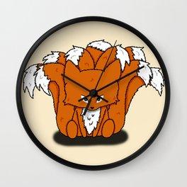 Chibi Nine Tailed Fox (Chibi Kyuubi no Kitsune) Wall Clock
