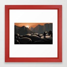 Sunset hike Framed Art Print