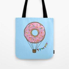 Donut Hot Air Balloon Tote Bag