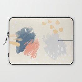 Peach and Blue Laptop Sleeve