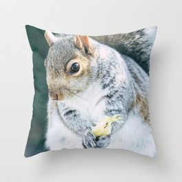 Squirrely Snacks Throw Pillow