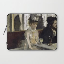 The Absinthe Drinker by Edgar Degas Laptop Sleeve