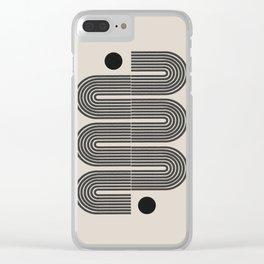 Geometric Mid Century Art Clear iPhone Case