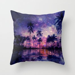 Paradise in Space Throw Pillow