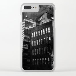 Under this threatening  sky every civilization dies Clear iPhone Case
