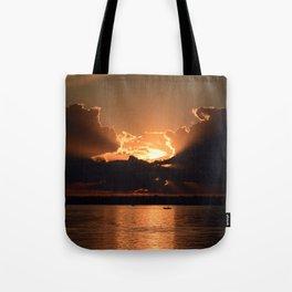 Fisherman Sunset Tote Bag