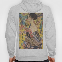Gustav Klimt - Woman with Fan Hoody