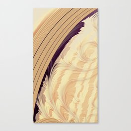 ABSTRACT.CREAM Canvas Print