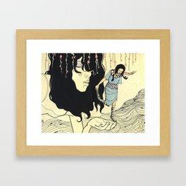 the leap Framed Art Print