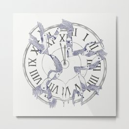 Existence with Time (Time Travelers) Metal Print