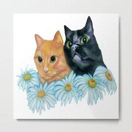 Cats. Best Friends. Metal Print
