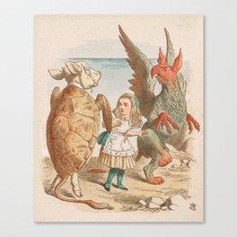 Scene from Alice in Wonderland Canvas Print