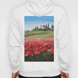 Italian Poppy Field Hoody