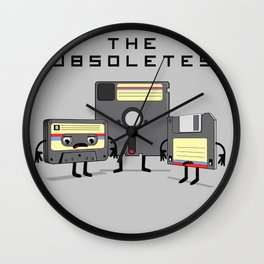 The Obsoletes (Retro Floppy Disk Cassette Tape)  Wall Clock
