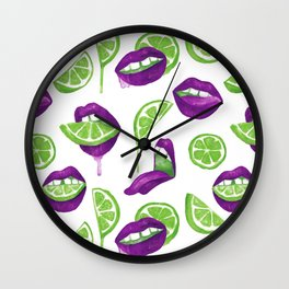 Don't Kill My Vibe (Lime) Wall Clock