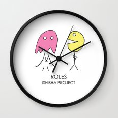 ROLES by ISHISHA PROJECT Wall Clock